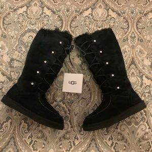 New UGG Appalachin Tall Suede Boots Sz 6 RARE